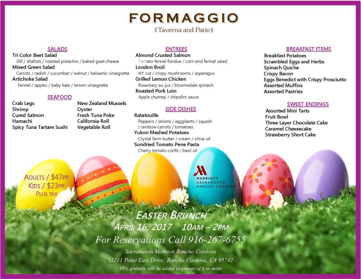 Easter Brunch Formaggio